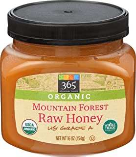 365 Everyday Value, Organic Mountain Forest Honey Raw, 16 Ounce