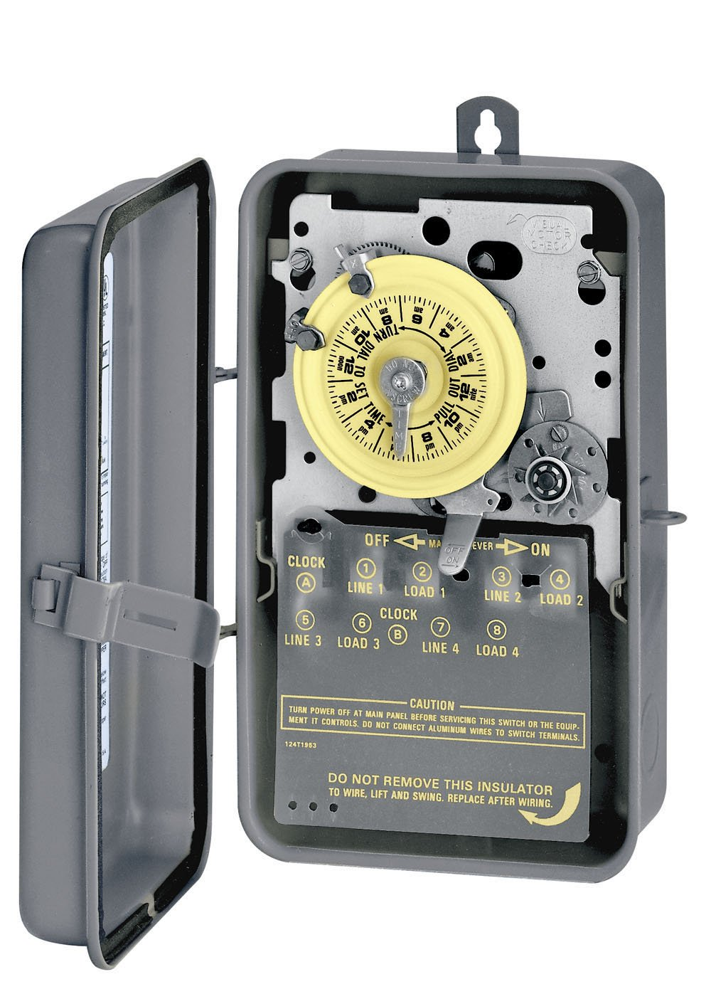Intermatic T174CR DPST 24 Hour 208-277-Volt Time Switch with 3R Steel Case and Carry-over