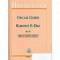Konzert E-Dur op 11 - arrangiert für Kontrabass - Klavier [Noten/Sheetmusic] Komponist : GEIER OSCAR