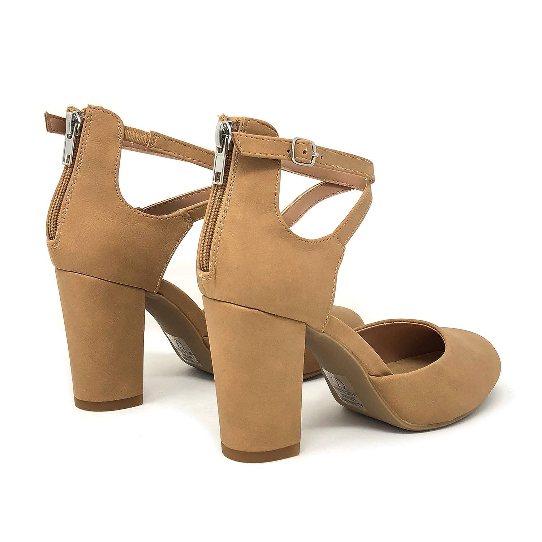 ba1b451f3d1 Amazon.com | City Classified Comfort Nola Women's Closed Toe Ankle ...