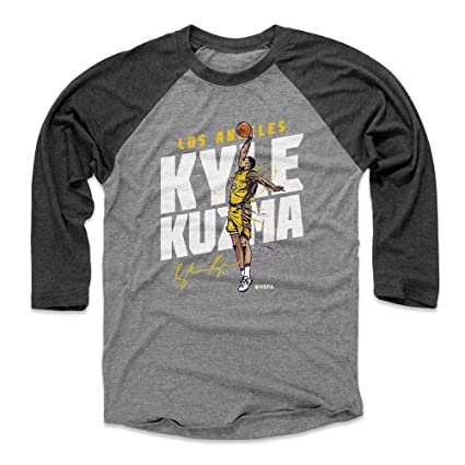 new style 62ab7 b7f8b Amazon.com : 500 LEVEL Kyle Kuzma Baseball Tee Shirt - Los ...