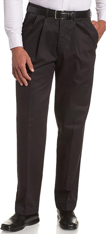 Details about  /Haggar Men/'s Big-Tall Premium No Iron Classic Fit Expandable Waist Plain Front P