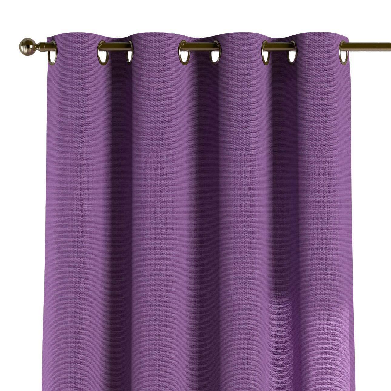 Dekoria Ösenschal Dekoschal Blickdicht 1 Stck. 130 × 260 cm violett Maßanfertigung möglich