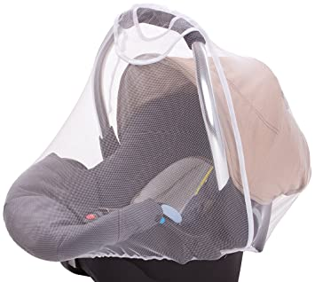 BEST Universal Insect Net For Baby Car Seat Group 0 0 White The Mosquit UK STOCK