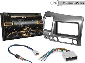 Sony WX-920BT Double Din Radio Install Kit With Sirius XM Ready, USB/AUX, CD Player Fits 2006-2011 Honda Civic (Dark Atlas Grey)