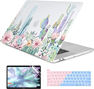 Dongke MacBook Pro 16 inch Case Model A2141 (2019 2020 Released), Plastic Hard Shell Case Cover Only Compatible with MacBook Pro 16 inch with Retina Display & Touch Bar Fits Touch ID, Color Cactus