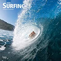 Surfing 2020 12 x 12 Inch Monthly Square Wall Calendar, Ocean Sea Beach Wave Sport