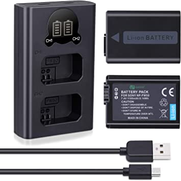 Np-fw50 Doble Canal de la batería digital Cargador Fr Sony α7s A-7 a7rii ilce-7s a7r