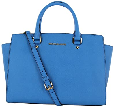 fab74434d3 Michael Kors Selma Satchel Handbag - Heritage Blue  Handbags  Amazon.com