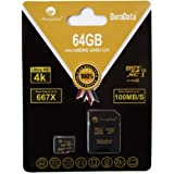64GB Micro SD SDXC V30 A1 Memory Card Plus Adapter Pack (Class 10 U3 UHS-I Pro MicroSD XC) Amplim 64 GB Ultra High Speed…