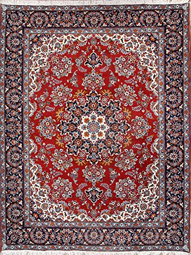 Traditonal Floral 10x12 Hamadan Machine Made Persian Area Rug 100% Wool For Living Room (12' 2'' X 9' 6'') Wool Hamadan Persian Area Rugs