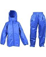 DRY KIDS Wasserdichte Anzug - Bestehend aus Packaway wasserdichte Jacke und wasser über Hose
