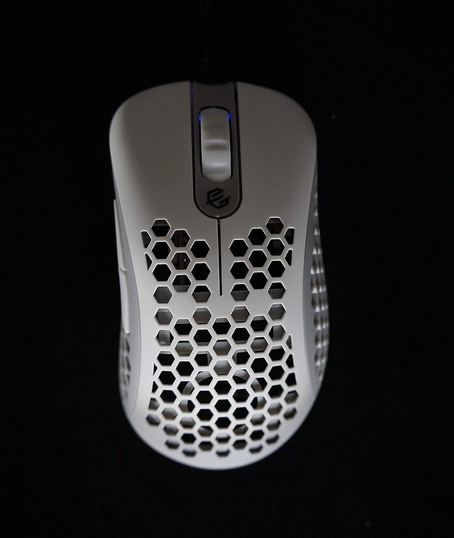 G-Wolves Skoll Ace SK-L3360 - Ratón con Cable para Juegos (hasta 12000 CPI, 7 Botones), RGB (66 g) Blanco Blanco