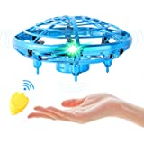 Flying Toy Mini Drone for Kid, Hand Controlled Flying Ball with LED Light, UFO Helicopter with 2 Speed, Easy Indoor…