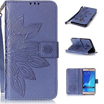 Ooboom® Samsung Galaxy J5(2015 Version) Funda Realzar Estilo Libro Flip Wallet Case Cover Carcasa Piel PU Billetera Soporte Cierre Magnético para ...