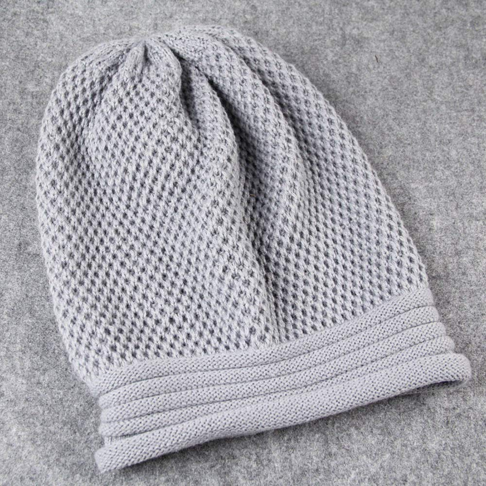 Reooly Knit Winter Warm Mujeres Hombres Hip-Hop Beanie Hat Baggy ...