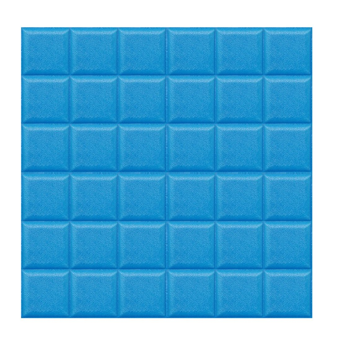 (Enerhu)3D壁紙 3D壁紙パネル 3Dウォールステッカー 壁紙シール ウォールステッカー DIY 簡単貼付シール 防水 壁紙 お洒落 健康 補修簡単 賃貸OK 幼稚園 60*60cm 15枚入り ブルー B07DS75WW6 15750 60*60cm(15枚入り)|ブルー ブルー 60*60cm(15枚入り)