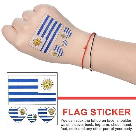 Moonvvin 2018 World Cup FIFA National Bands Tatuaje, 10 piezas temporales ecológicas impermeables banderas nacionales tatuaje cara cuerpo adhesivo [contiene ...
