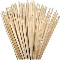 ORANGE DEAL Gartenparty 100 Lagerfeuerspieße 90 cm Lange (Ø6mm) aus Bambus zum Rösten von Stockbrot, Marshmallows, Bratwürsten Maiskolben ohne Reinigen rostfrei