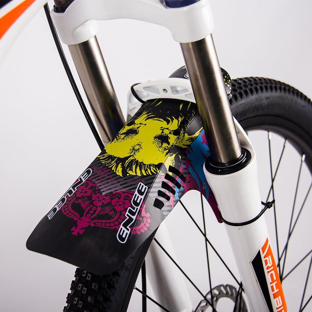 Guardabarros para neumáticos de bicicleta de montaña BMX Racing Touring Road Bike MT Lightest MTB Front horquilla trasera, black-04: Amazon.es: Deportes y aire libre
