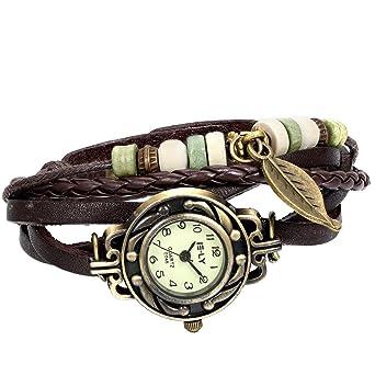 Amazon.com: JewelryWe - Reloj de pulsera de cuarzo para ...