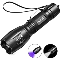 LETION UV Flashlight, LED UV Torch 2 in 1 UV Black Light with 500LM Highlight & 4 Mode & Waterproof IPX 4 for Pet…