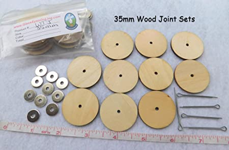 35mm  Doll or  Bear Joints         New In Package        12 SETS OF THREE PIECES