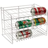 Atlantic Gravity-Fed Compact Single Canrack - Kitchen Organizer, Durable Steel Construction, Size Fits Most Pantries, PN1002