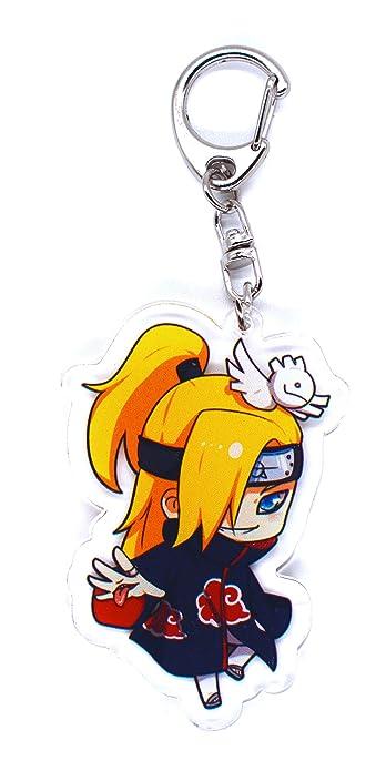 Anime Domain Llavero de Naruto con Figura Chibi(Deidara)