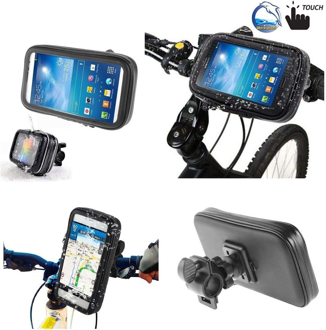 Support Professionnel pour Le Guidon de Bicyclette et la Moto Imperm/éable Rotative 360 /º pour = Apple IPHONE X//iPhone XS  Noir DFV mobile