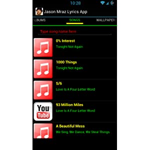 779d5f174b619 Jason Mraz Lyrics App  Amazon.ca  Appstore for Android