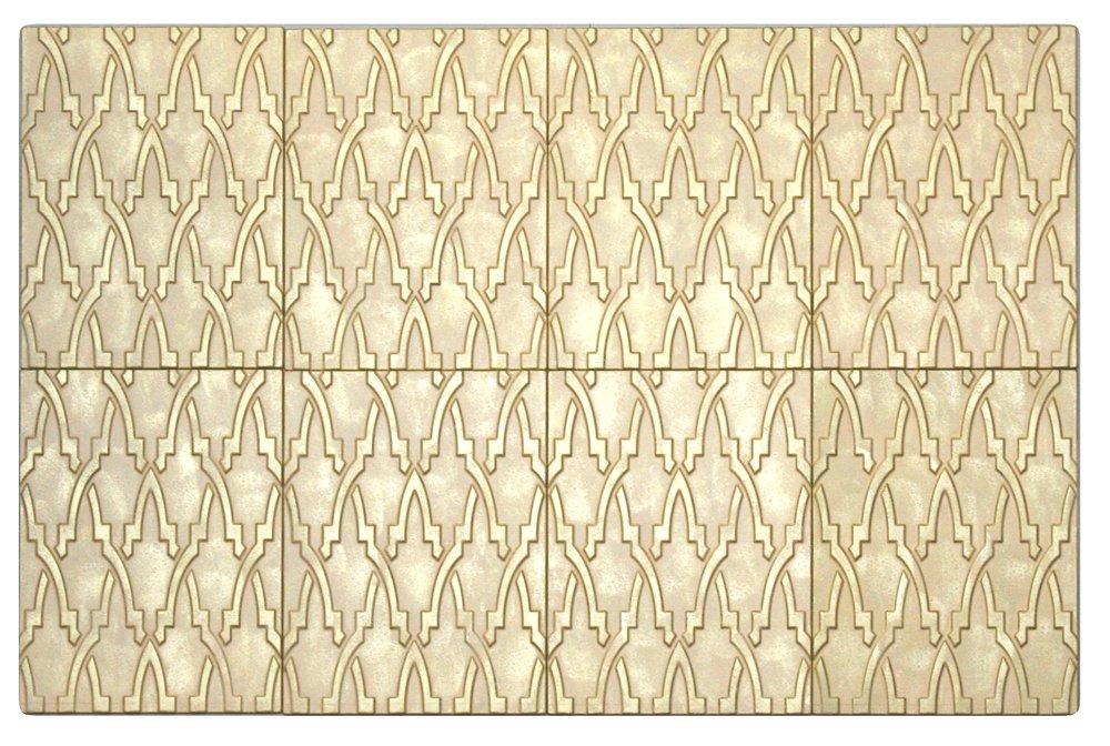 8 pcs Decoraci/ón pared autoadhesiva DIY montaje f/ácil. Cer/ámica Decap/é Panelados Mod. Trama Oriental Panel decorativo 3D 30 x 40 cm Revestimiento pared y techo