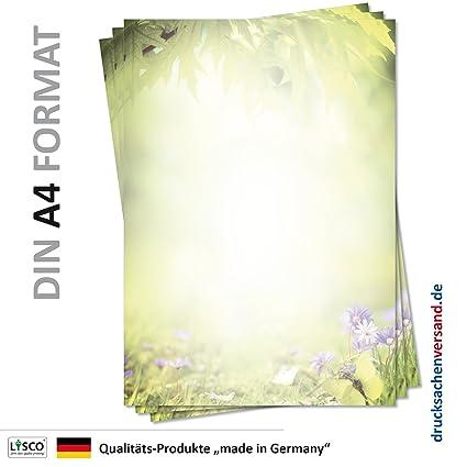 DIN A4 Format 20 Blatt Motiv-Briefpapier BLUMENGRÜSSE