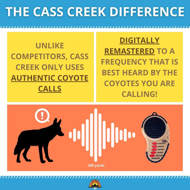 Cass Creek Ergo Predator Call, Handheld Electronic Game Call, CC010, Compact Design, 5 Calls In 1, Coyote Call, Expert Calls for Everyone : Predator Calls And Lures : Sports & Outdoors