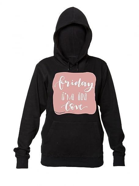 Friday Im In Love Cool Writing On Pink Sudadera con Capucha para Mujer: Amazon.es: Ropa y accesorios