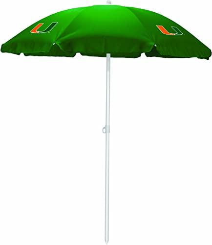 NCAA Miami Hurricanes Portable Sunshade Umbrella