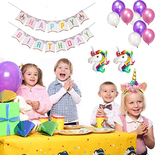 Unicorn Birthday Party Supplies Bagvhandbagro Unicorn Birthday