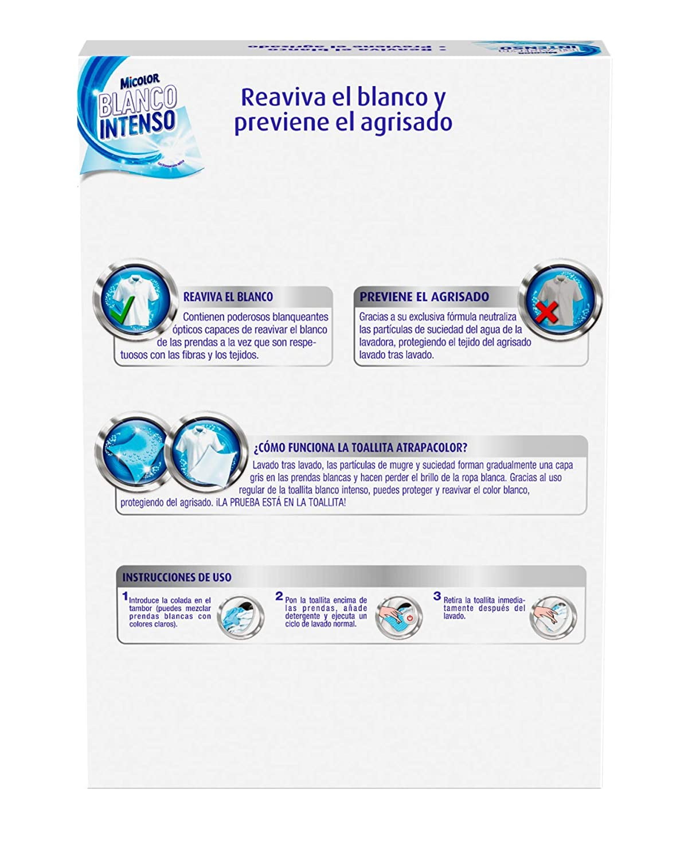 Micolor Toallitas Blanco Intenso 10+5D - Pack de 5, Total: 65 ...