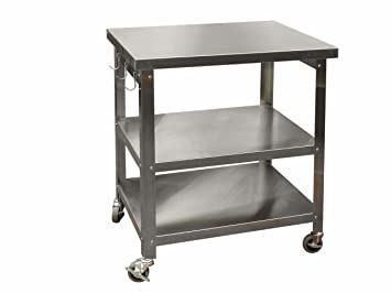Danver Stainless Steel Kitchen Cart, 27 Inch