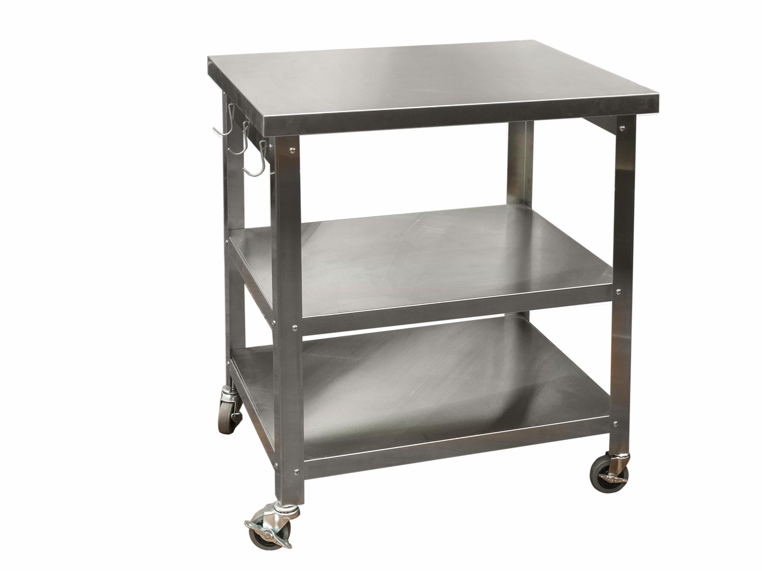 Danver Stainless Steel Kitchen Cart, 30-Inch