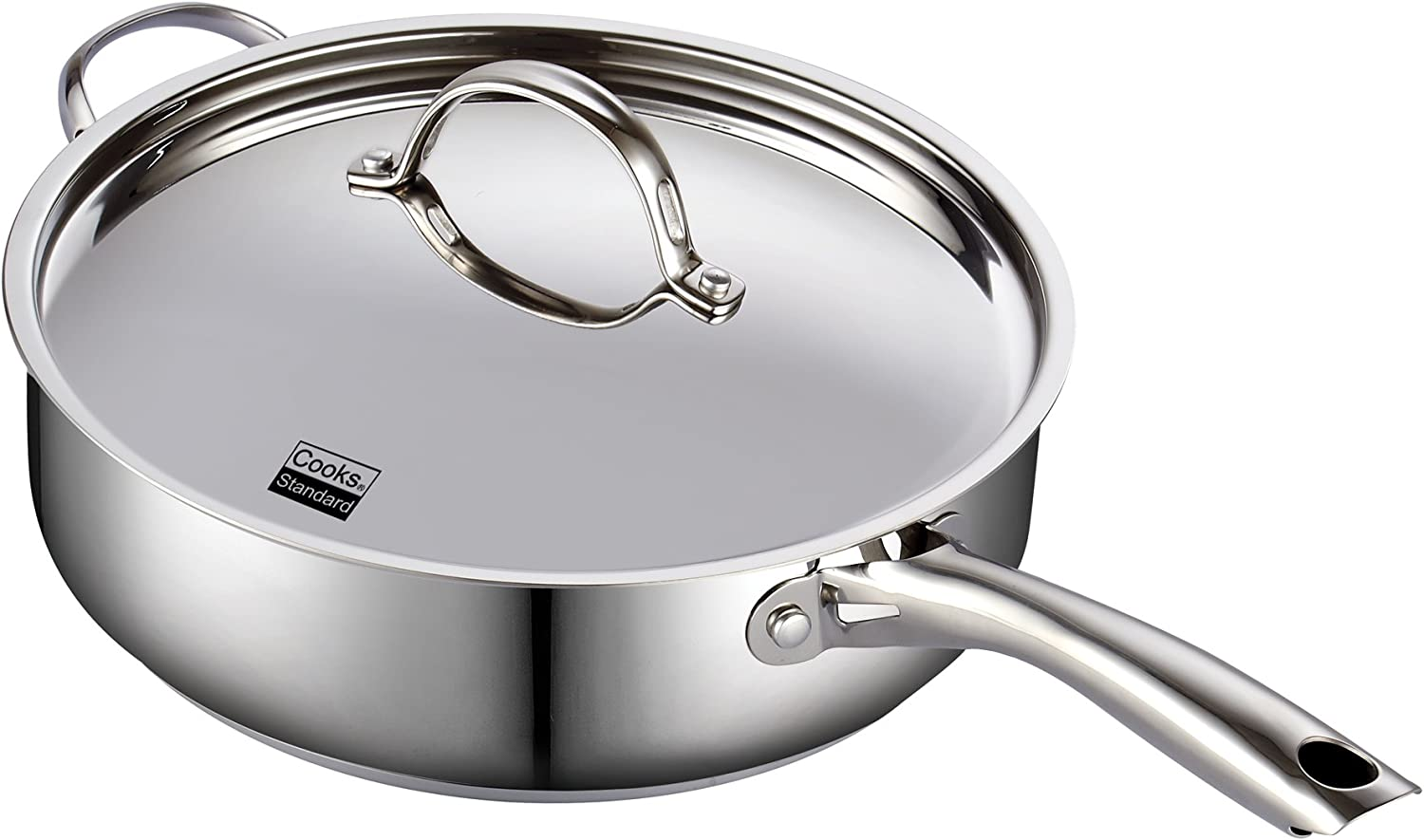 Amazon Com Cooks Standard Classic Stainless Steel Deep Lid 5 Quart 11 Inch Saute Pan 5 Quart Silver Kitchen Dining