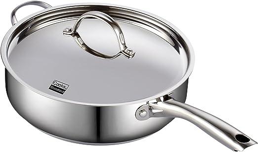 Amazon.com: Cooks Standard - Sartén honda con tapa (acero ...