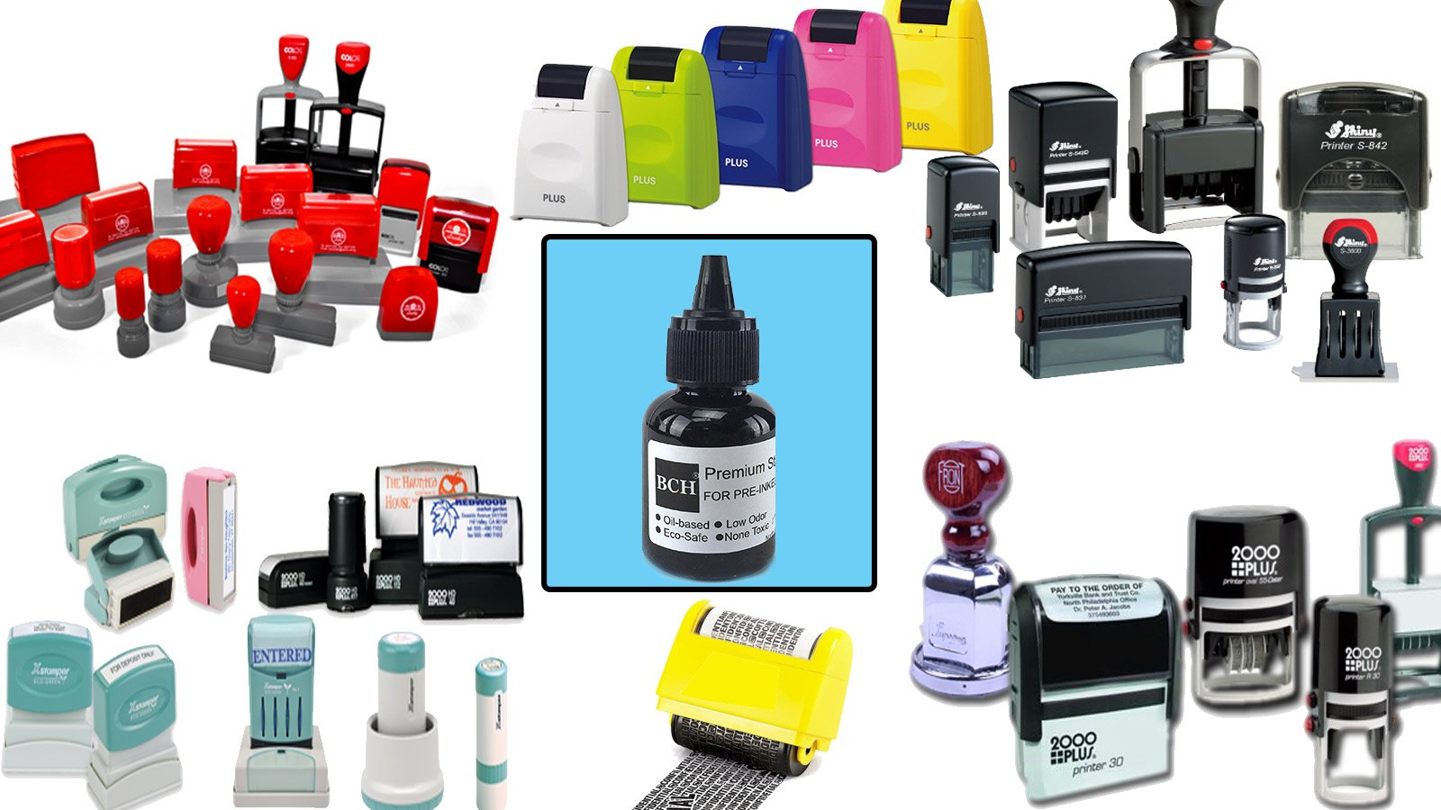 Black Stamp Refill Ink by BCH - Oil-Based 1 oz Bottle for Roller Stamp or Pre-Inked Rubber Gel Pads - 30ml by BCH (Image #3)