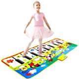 Piano Mat 53'' x 23'' Piano Keyboard Play Mat Electronic Music Mat Musical Touch Play Game Gifts for Kids Toddlers Girls…