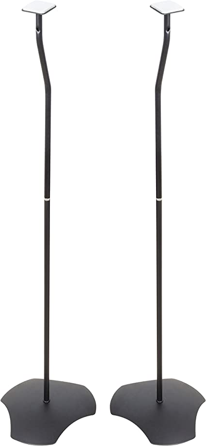 Atlantic Adjustable Height Speaker Stands - Set of 10 Holds Satellite  Speakers from 1010 to 10 inch, Heavy Duty Powder Coated Aluminum with Wire