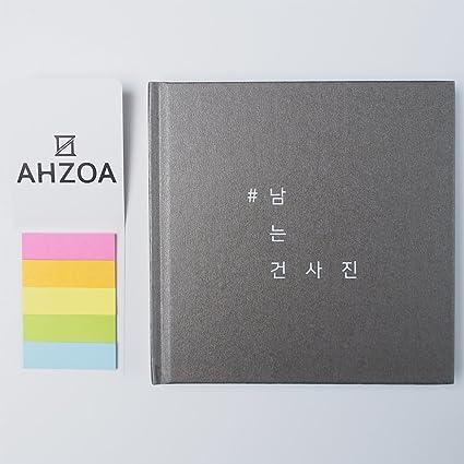 Álbum de fotos para Instagram con AHZOA 5 colores Post-it, fondo negro tapa