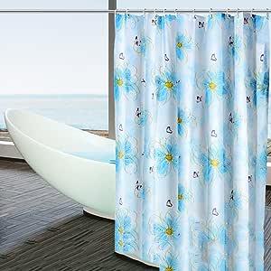 FREF Peva Cortinas de Ducha para el baño,Rellenas de Moho Impermeable baño Cortina mampara Cortina de Ducha Cortinas oscuras-B 200x200cm(79x79inch): Amazon.es: Hogar