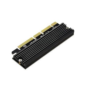 ADWITS PCI Express 3.0 4X 8X 16x a M.2 NVMe y AHCI SSD Tarjeta Adaptadora con Disipador de Calor, sin Soporte y Compatible con Samsung 960 970 EVO Pro ...
