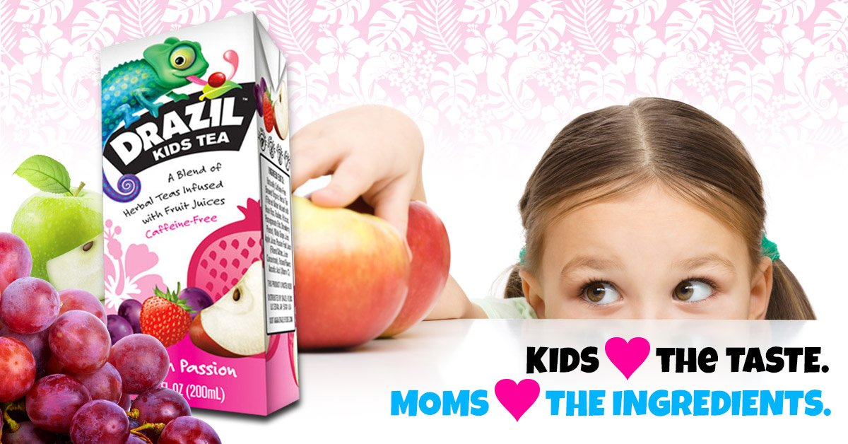 Drazil Kids Tea Variety Pack, 6.75 Ounce Boxes (Pack of 24), Individually Packaged Juice-Box Style Iced Herbal Tea Infused with Fruit Juices, Caffeine-Free Gluten-Free, No Added Sugar by Drazil