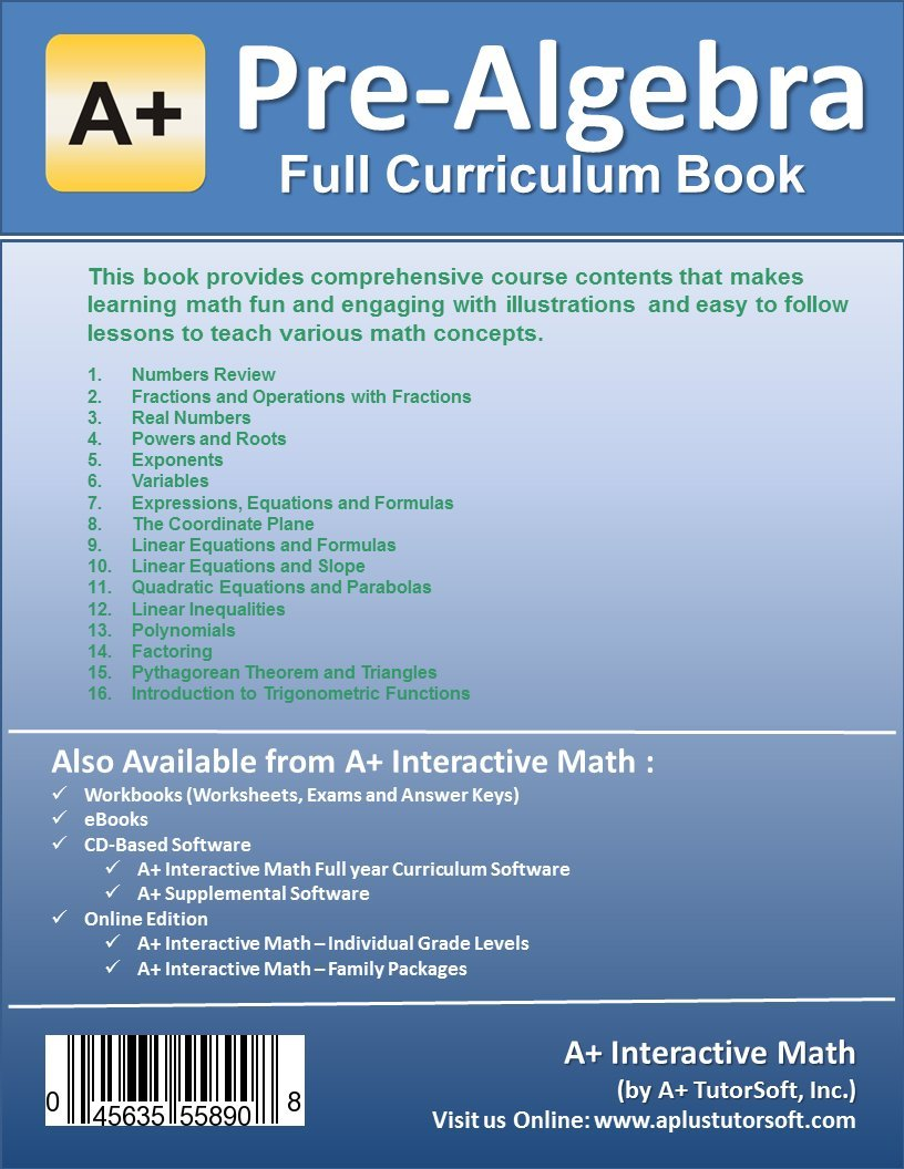 Curriculum Bundle - Pre-Algebra (7th or 8th Grade) Math Textbook ...